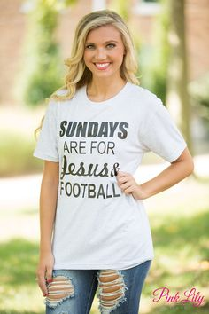 Sundays Are For Jesus And Football Vinyl Tee