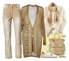 """Buzz-Worthy: Coffee Date"" by ysmn-pan ❤ liked on Polyvore featuring J.Crew, Jérôme Dreyfuss, Baguette....., Golden Goose, STELLA McCARTNEY, Nora Kogan, Unpaired, contest and CoffeeDate"