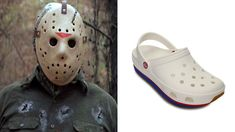 Jason Voorhees Looks Like Crocks Shoe