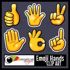 This set of Hands Clip Art contains colored, sticker style and black and white of each image (total 48 images).  Each image is approximately 2.5…