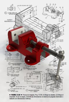 Prensa de máquina (Machine vice) - SOLIDWORKS - 3D CAD model - GrabCAD