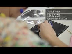 Inside Lesage, Embroider est 1924 - YouTube