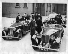 West Riding Police officers and their classic MG police cars, Wakefield Police Uniforms, Police Officer, Emergency Vehicles, Police Vehicles, British Police Cars, Mg Cars, State Police, British History, Law Enforcement