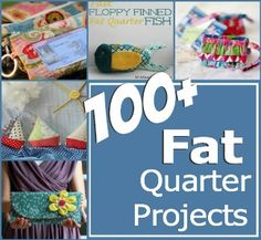 100+ easy to sew fat quarter projects. All patterns and projects are free with step by step instructions. Includes clothing, gift ideas, handbags and home.
