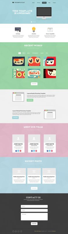 Colorful Flat PSD Template