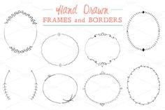 Hand Drawn Frames and Borders by Fathima's Studio on @creativemarket