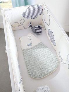 Tour de lit bébé imprimé thème envole-moi  - vertbaudet enfant