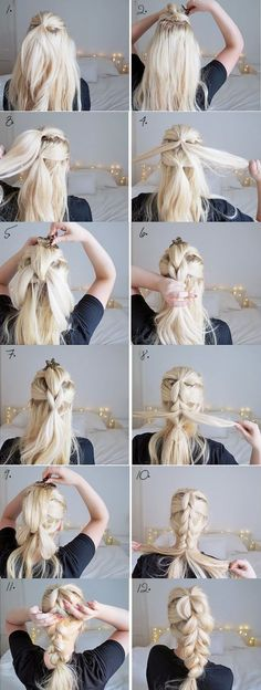 THE CHUNKY BRAID | EASY HAIRSTYLES | STEP BY STEP HAIRSTYLES | HAIRSTYLE TUTORIALS | 7 Hairstyles That Can be Done in 3 Minutes #beautyhairstyles