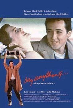 """""""Say Anything..."""" (1989) directed by Cameron Crowe, starring John Cusack, Ione Skye"""
