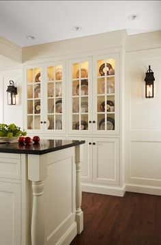 Interior Design Ideas - Shallow built-in china cupboard