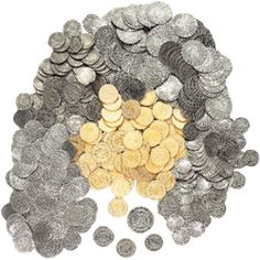 """Could we do something with medieval coins? Give some to guests as """"tokens"""" to exchange for alcohol?"""