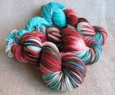Southwest Zombie - Superwash Merino Yarn - DK Weight - Hand Dyed by GnomeAcres - $16.50