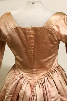 18th Century Dress Overdress, 1780, silk, L 62 in. Fenimore Art Museum,