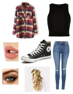 """""""Chilly days"""" by lulu-bell-7298 on Polyvore featuring River Island, Topshop, Converse, Charlotte Tilbury, women's clothing, women, female, woman, misses and juniors"""