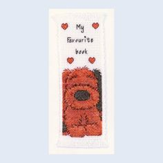 Biscuit Bookmark - Popcorn - counted cross stitch kit