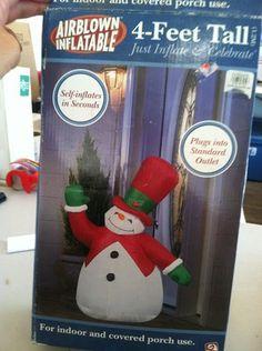 Airblown Inflatable 4-feet Tall Snowman New In Box