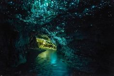 I would love to see the glow worms ..  this is beautiful.