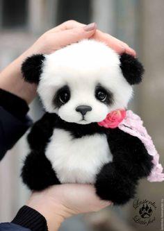 Купить Боно - чёрно-белый, панда, пандочка, тедди, тедди мишка, авторская ручная работа