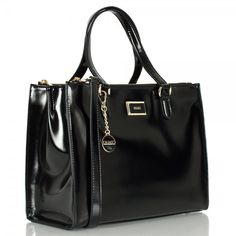 DKNY Leather Bags   › Bags › Totes › DKNY › DKNY Vacation Black Patent Leather ...
