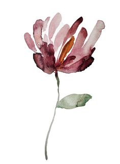 "Exceptional ""contemporary abstract art painting"" info is offered on our web page. Simple Watercolor Flowers, Watercolor Plants, Easy Watercolor, Watercolor Paintings, Watercolors, Abstract Watercolor Art, Watercolor Portraits, Easy Paintings, Watercolor Landscape"
