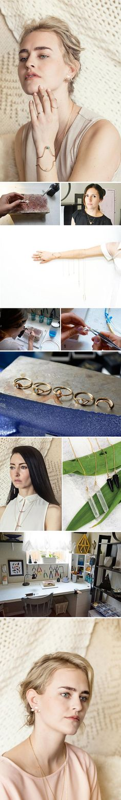 """""""Metal and stones are my absolute passion. I've never found a medium that speaks to me like metalsmithing does."""" — Krista Young, the jewelry designer behind the Etsy shop Gem & Blue. Read more about what inspires Krista in our studio tour on the #Etsy blog."""