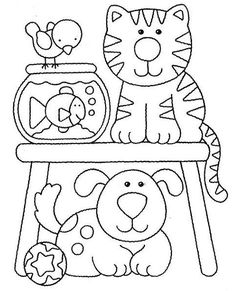Animals coloring web page Preschool Coloring Pages, Cute Coloring Pages, Coloring Pages For Kids, Coloring Sheets, Adult Coloring, Coloring Books, Zoo Animal Coloring Pages, Drawing For Kids, Art For Kids