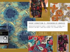 #Patternbank FW 17/18 print direction on #WeConnectFashion: Glam > Floral Punch.