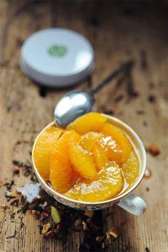 Suprêmes d'oranges au sirop chaï impérial