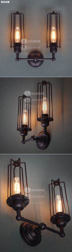 Rh loft fashion vintage long hoaxed wall lamp free shipping-inWall Lamps from Lights & Lighting on Aliexpress.com