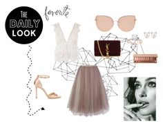 """The Daily Look (model: Keira Knightley)"" by doratemplam ❤ liked on Polyvore featuring Topshop, Coast, Jimmy Choo, Yves Saint Laurent, Urban Decay, Heidi Swapp, casual, chic, jimmychoo and everyday"