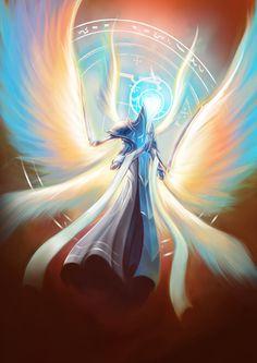 Angel Warrior, Fantasy Warrior, Fantasy Creatures, Mythical Creatures, Fantasy Character Design, Character Art, Angel Illustration, Angel Artwork, Accel World