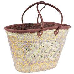 Hand-Woven Moroccan Basket (275 RON) ❤ liked on Polyvore featuring home, home decor, small item storage, baskets, moroccan home decor, handwoven baskets, palm leaf baskets, book baskets and hand woven basket