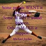 If it's a michael jordan quote, then why is it on a softball picture?