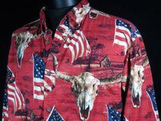 Bit & Bridle Western American Cowboy Mens Shirt Size Large Button Front  #Mensfashion #Style #Blackfriday http://r.ebay.com/Vk2KO2