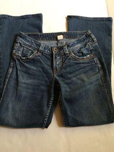 SILVER Western Glove Works LOLA Women's Designer Jeans Size 8 26/35 #SilverJeans #LOLA
