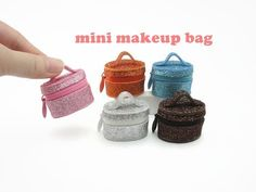 Diy miniature make-up bag