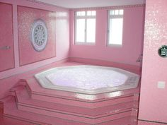 Not real crazy about this color pink, but would love this bath tub!