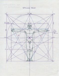 geometry matters — Mysteries of the Vitruvian Man By examining. Geometry Art, Sacred Geometry, Geometry Pattern, Miguel Angel, Divine Proportion, Golden Ratio, Figure Drawing, Mathematics, Art Reference