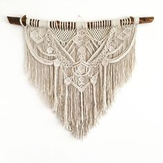 Ancestral Weave, macrame wall hanging by AncestralStore on Etsy