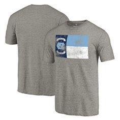 North Carolina Tar Heels State Flag Tri-Blend T-Shirt - Heathered Gray - $27.99