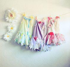 Toddler's Fairy Dress Shabby Chic Flower Girl Birthday Party Dress Children's Clothing Tattered Skirt Baby Sundress Floral Print  1T - 6T. $68.00, via Etsy.