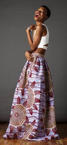 African Print Maxi. The Cassada Maxi skirt is a classic full skirt gently gathered and sits comfortably at the waist. Ankara | Dutch wax | Kente | Kitenge | Dashiki | African print dress | African fashion | African women dresses | African prints | Nigerian style | Ghanaian fashion | Senegal fashion | Kenya fashion | Nigerian fashion | Ankara crop top (affiliate)