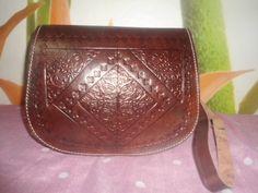 bolso bandolera  de cuero artesania marroqui de jowel por DaWanda.com