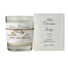 Cote Bastide Rose Anciennes Candle - Paraffin wax. Made in France.