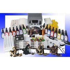Professional 4 Tattoo Gun Tattoo Kit with Tattoo Power Supply/15 Colors Tattoo Ink/Tattoo Needles/4 Tattoo Machine/other Tattoo Supplies MGT7 (Health and Beauty) www.freetattooide... tattoo-equipment