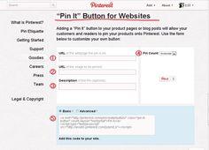 フォロー/Pinボタン設置方法 ピンタレスト(Pinterest).com