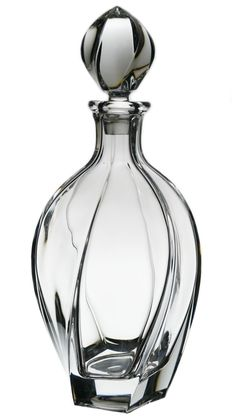 Twisted Flame Molded Glass Art Deco Spirit Decanter