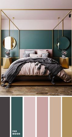Teal home accents home accents homeaccents hint of grey teal and mauve with grey accents color palette for bedroom color colorinspiration bedroom teal wedding color trends 30 sunset dusty orange wedding color ideas Bedroom Green, Room Ideas Bedroom, Home Decor Bedroom, Modern Bedroom, Teal Master Bedroom, Mauve Bedroom, Teal Bedroom Walls, Calm Bedroom, Teal Bedding