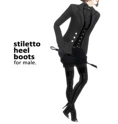 S:imadako tumblr  [stiletto heel boots for male]     original mesh by EA.remesh and recolor by me.sample.