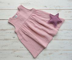 Girls Muslin Sleeveless Dress Cotton Pink by LillyRose2008 on Etsy